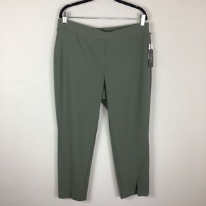Vince Camuto Olive Green Tapered Knit Pants Sz LG